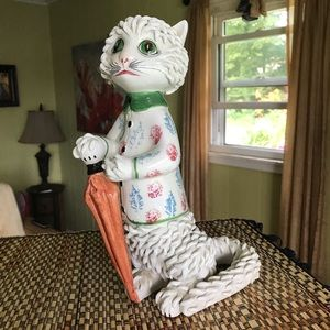 Other - Vintage mid century spaghetti hand painted cat